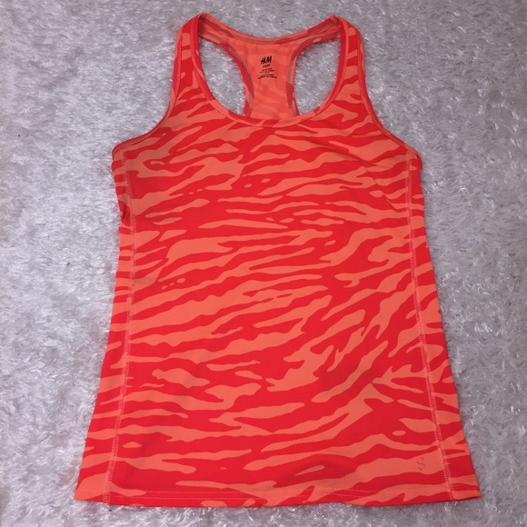 Neon Orange Zebra Burnout Racerback Sleeveless//Tank Top